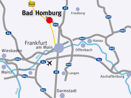 Bad Homburg at the heart of the region