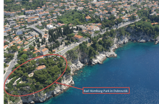 Bad Homburg Park in Dubrovnik
