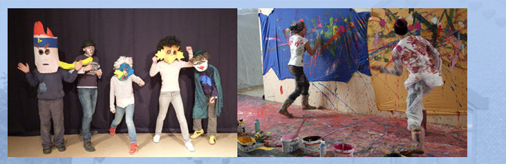 maskenbau & action painting